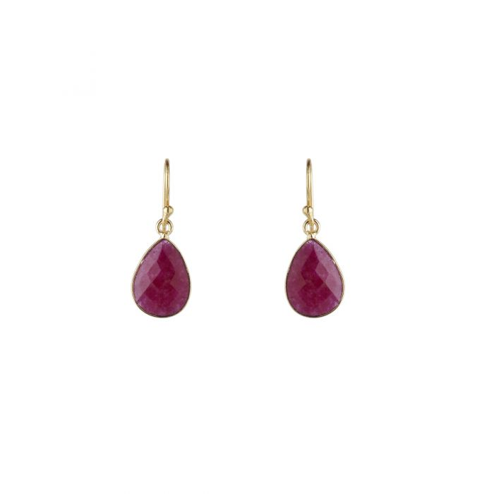 Ava Berry Agate Drop Earrings