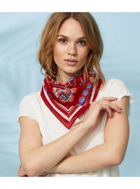 Rose Mandela Poppy Red Bandana