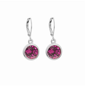 Merx Fuchsia Crystal Earrings