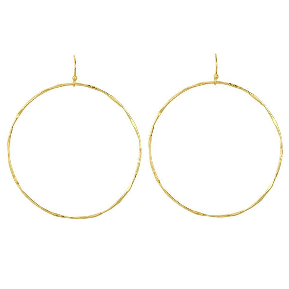 Open Circle Gold Hoop Earrings
