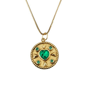 Love Green Zircon Pendant