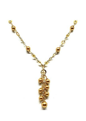 Gold Pearls Cluster Necklace
