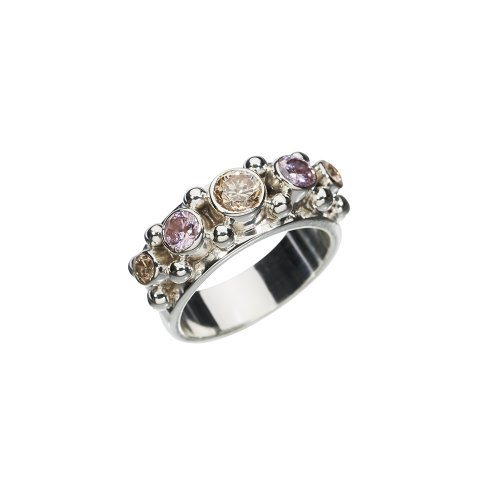 Five Pink Champagne Ring