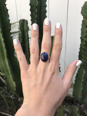 Sodalite Large Oval Ring
