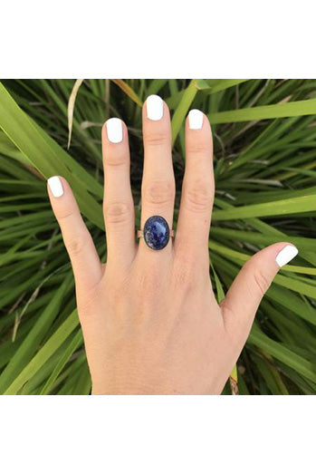Sodalite Small Oval RIng