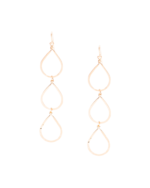Three Tear Earrings