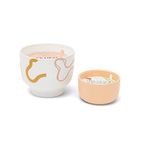 Pink Opal & Persimmon Ceramic Footed Vessel Candle