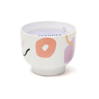 Lavender Mimosa Ceramic Footed Vessel Candle
