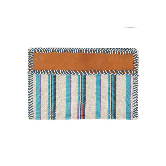 Naomi Zip Pouch, Turquoise