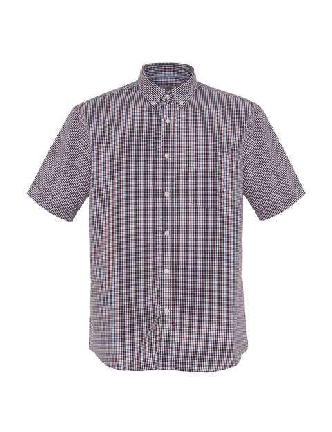 Pure Cotton Paisley Print Short Sleeve Shirt