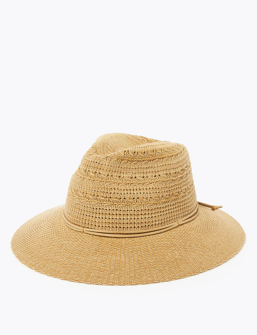 Cotton Packable Fedora Hat