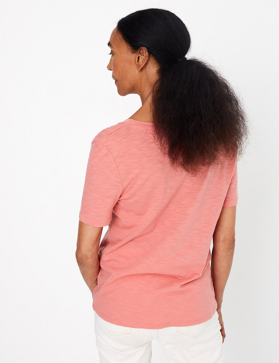 Cotton Rich Straight Fit Slub T-Shirt