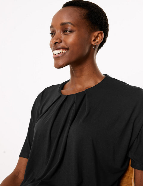 Relaxed Batwing Short Sleeve Top