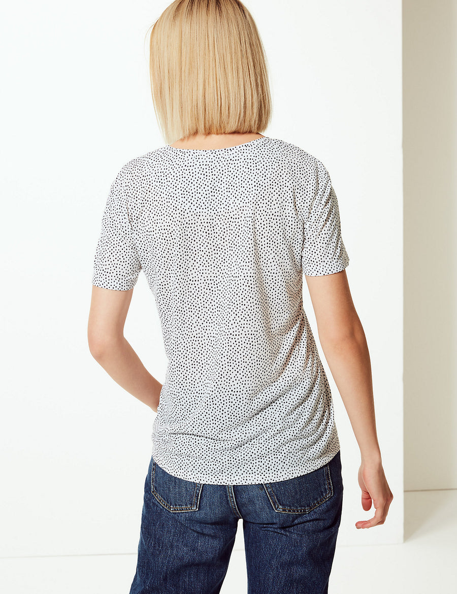 Polka Dot Relaxed Fit T-Shirt