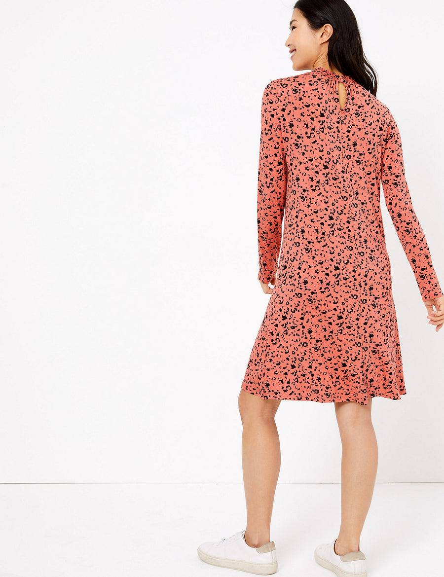 Jersey Animal Print Swing Dress