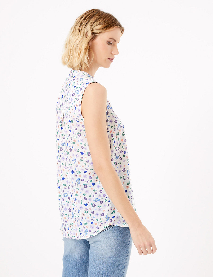 Floral Print Shell Top