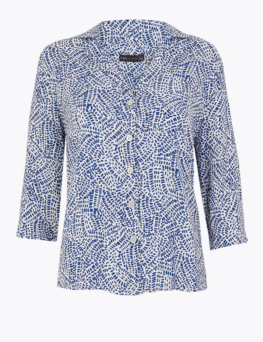 Printed Collared Neck Shirt