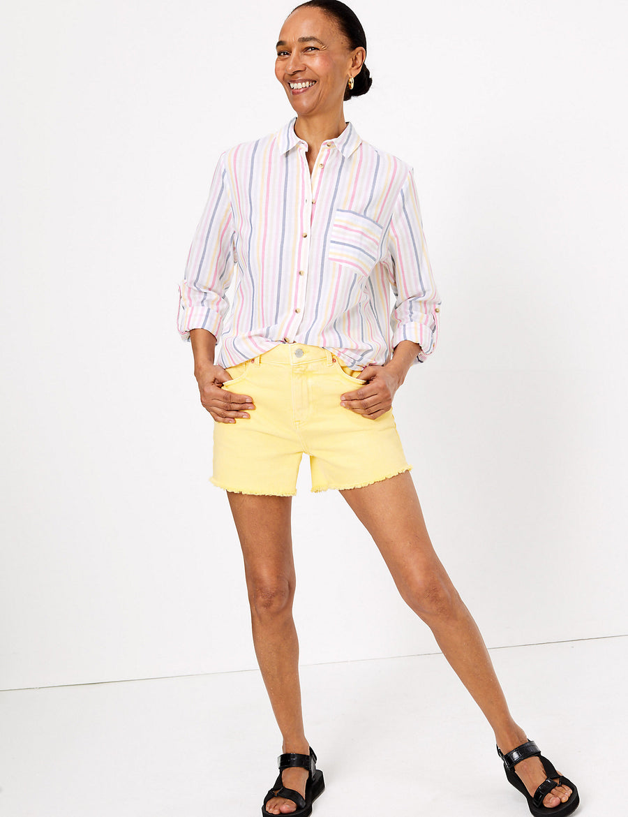 Pure Cotton Striped Relaxed Shirt