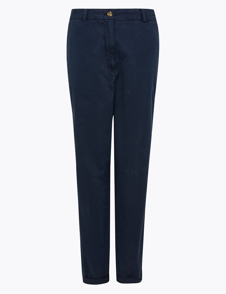 Pure Cotton Tapered Chinos