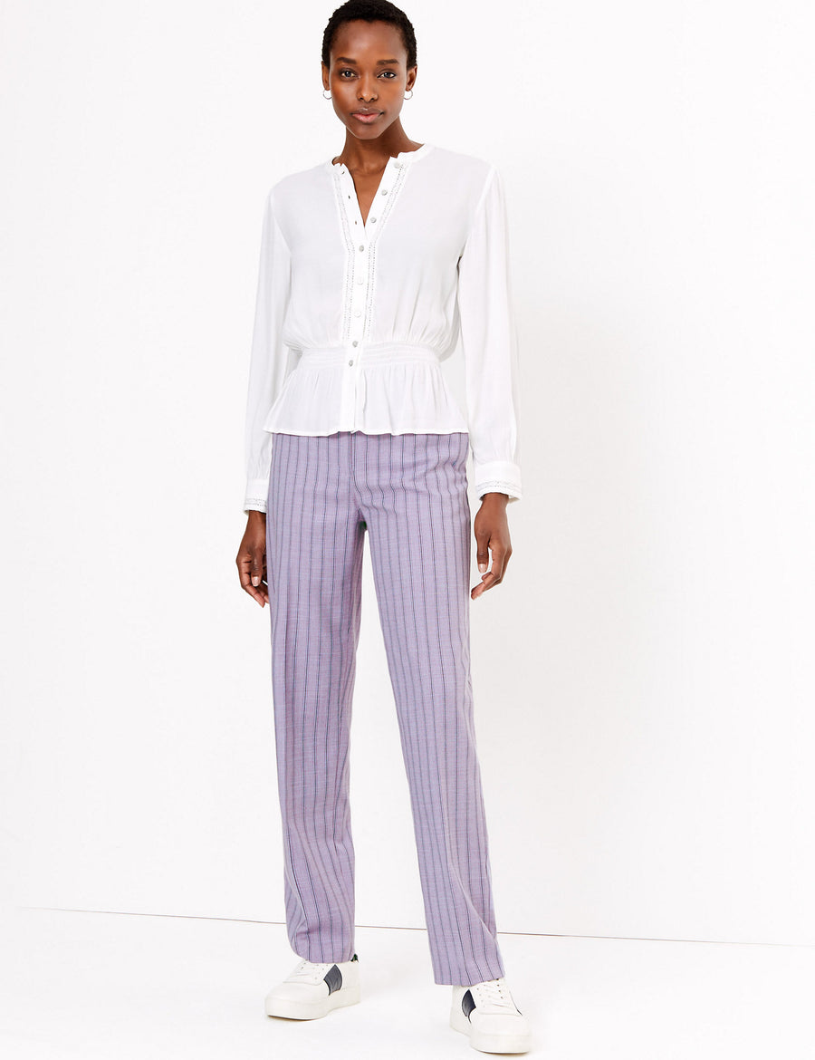 Freya Straight Striped Trousers