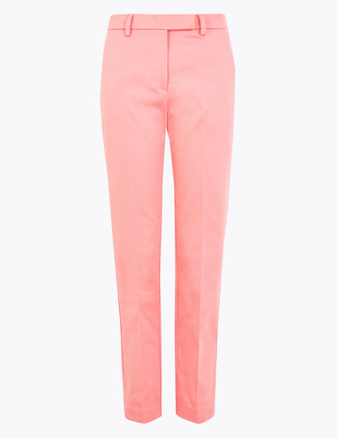 Mia Slim Cotton 7/8 Trousers