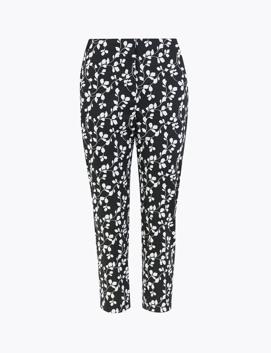 Mia Slim Fit Floral Cropped Trousers