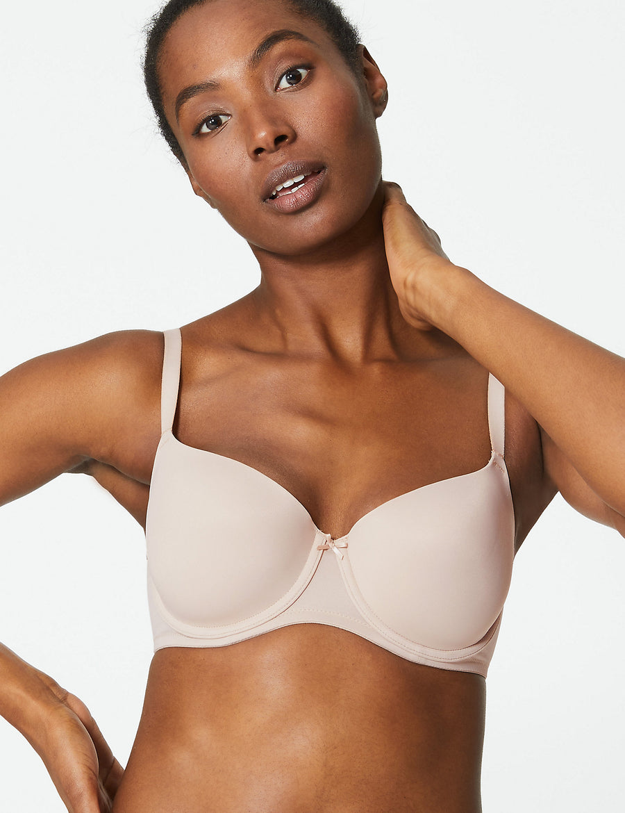 2 Pack Underwired T-Shirt Balcony Bras A-DD