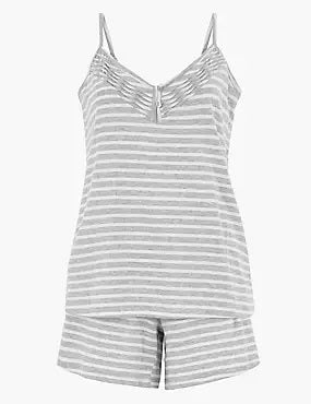 Cotton Striped Pyjama Set