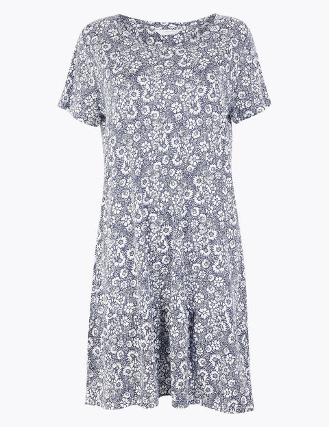 Cool Comfort™ Floral Print Short Nightdress