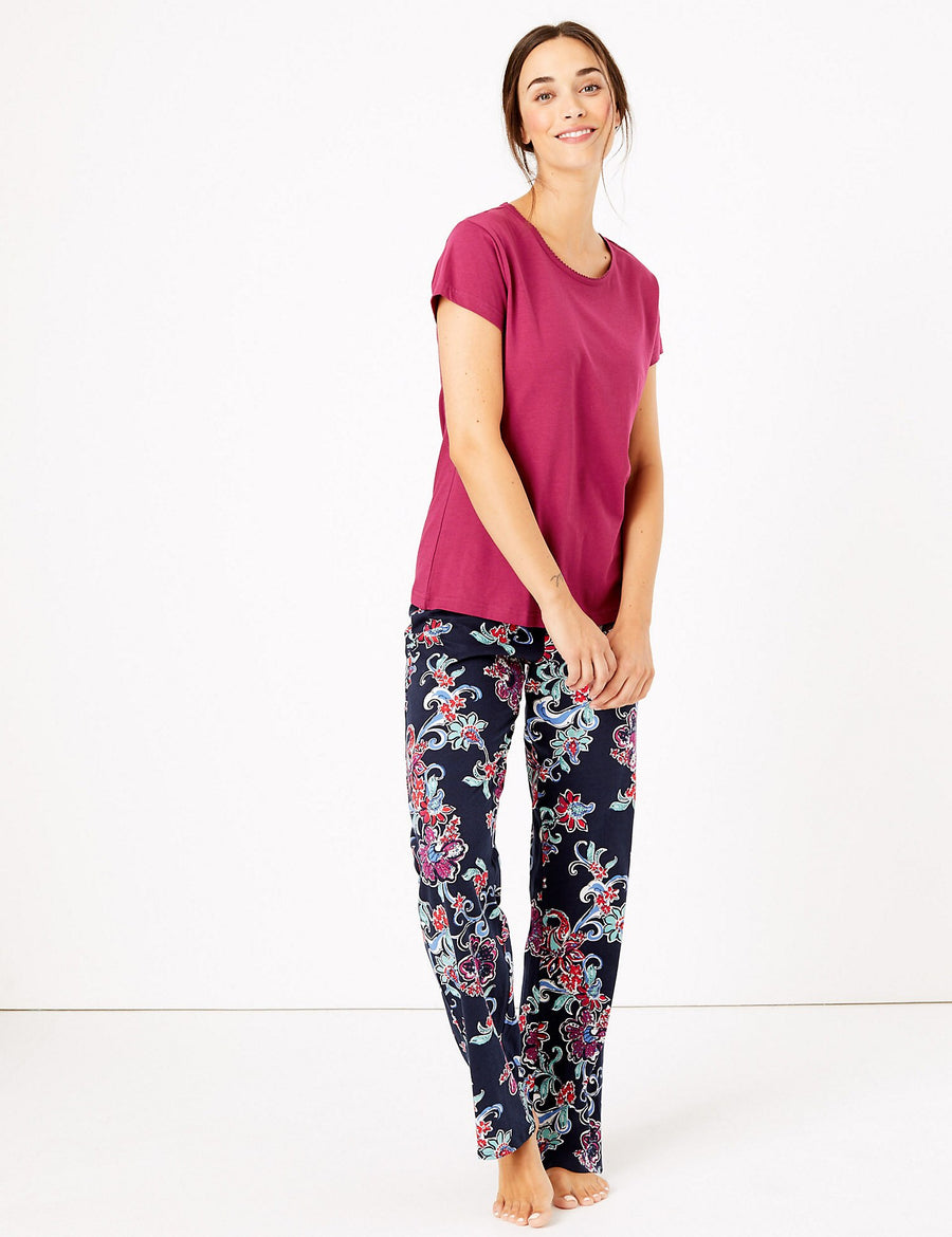 Pure Cotton Floral Pyjama Set