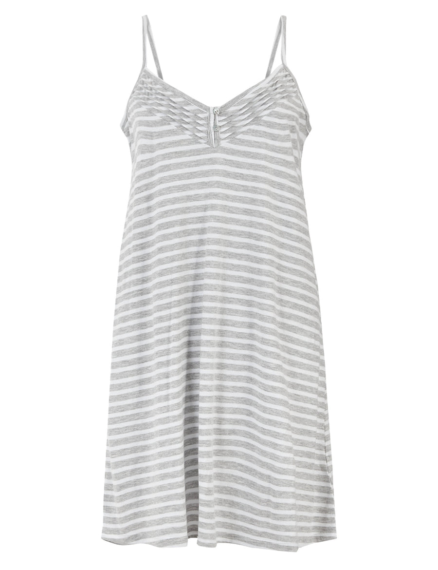 Cotton Rich Striped Chemise