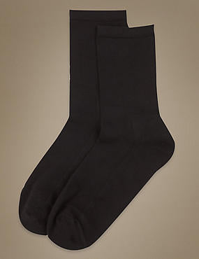 2 Pack Warm Toes Ankle High Socks