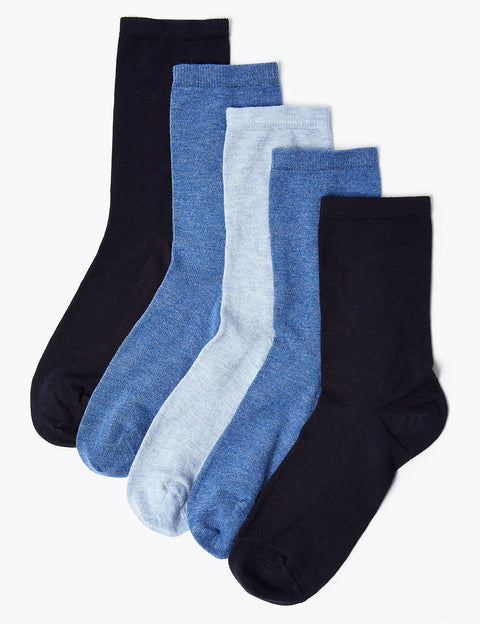 5 Pair Pack Sumptuously Soft Ankle Socks