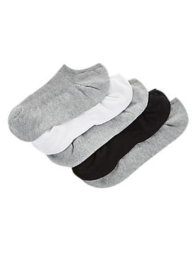 5 Pack Ultimate Comfort No Show Trainer Liner Socks
