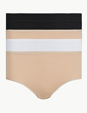 5 Pack High Waisted Midi Knickers