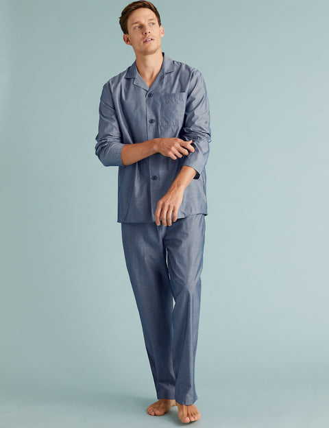 Cotton Chambray Pyjama Set