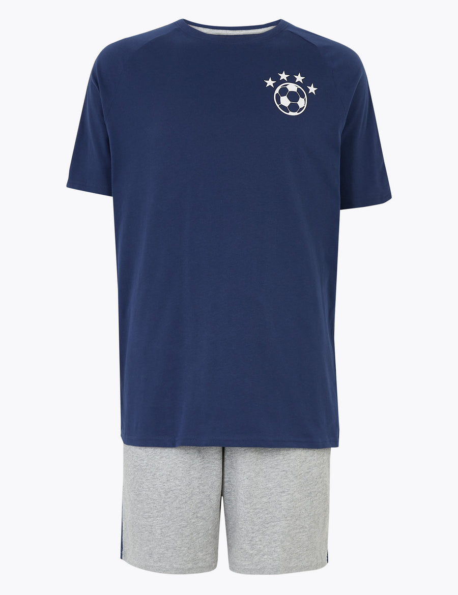 Pure Cotton Mini Me Football Pyjama Set