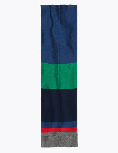 Colour Block Ribbed Scarf