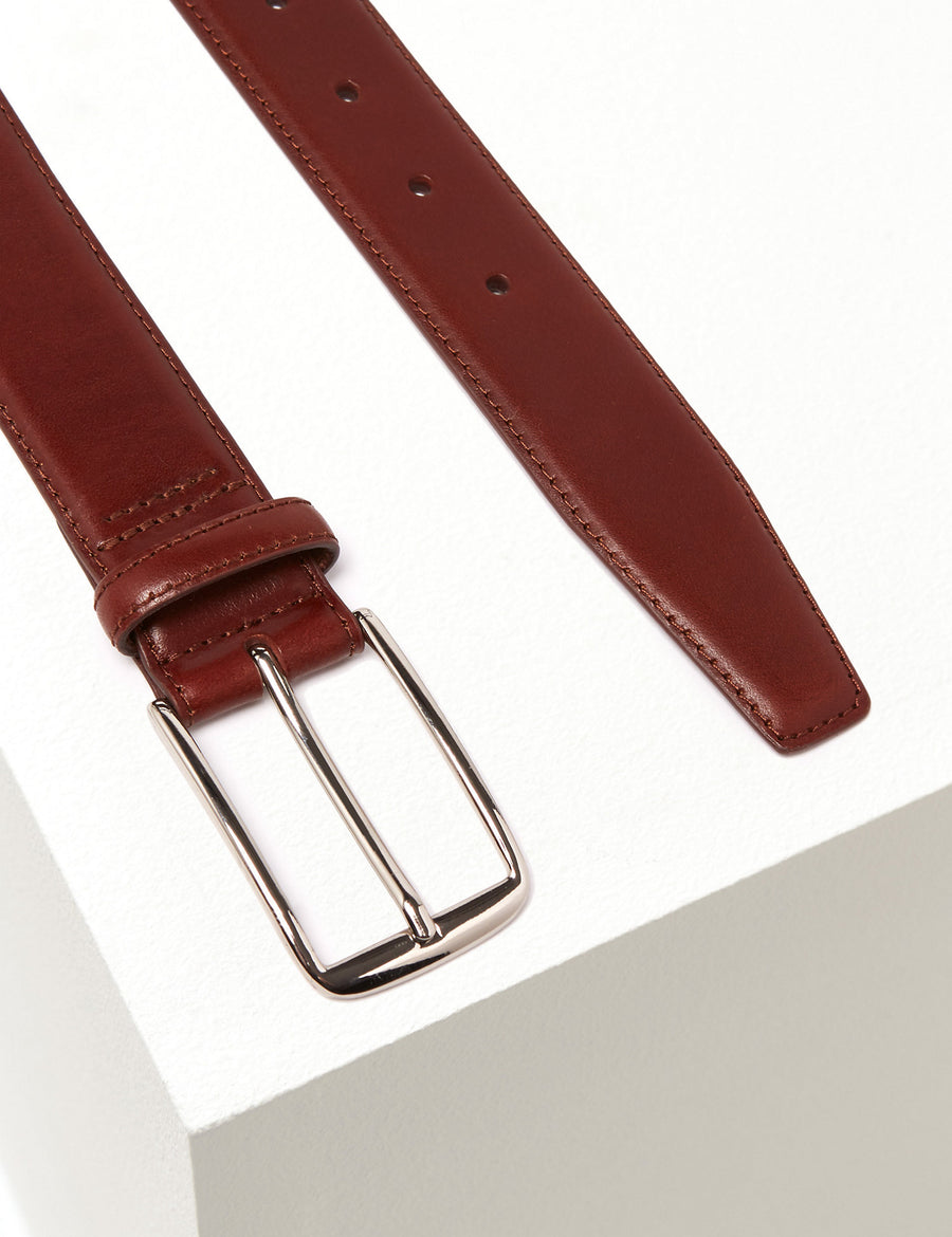 Italian Leather Wide Belt