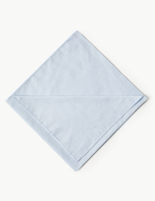 7 Pack Supima Cotton Handkerchiefs with Sanitized Finish