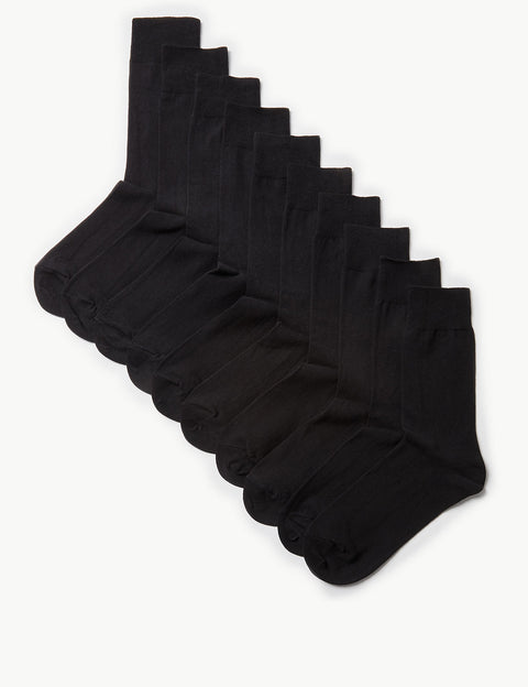 10 Pack Cool & Freshfeet Cotton Rich Socks