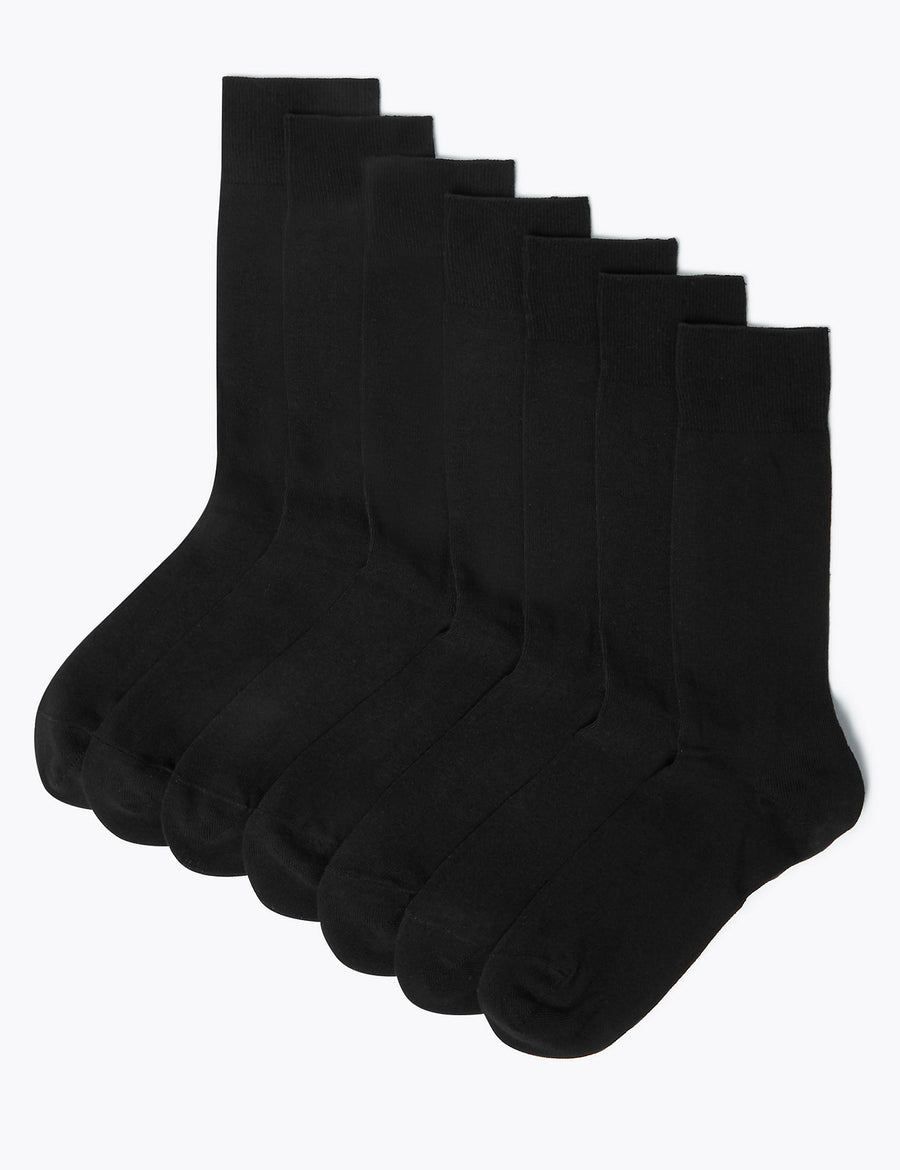 7 Pack Cool & Freshfeet Cotton Rich Socks