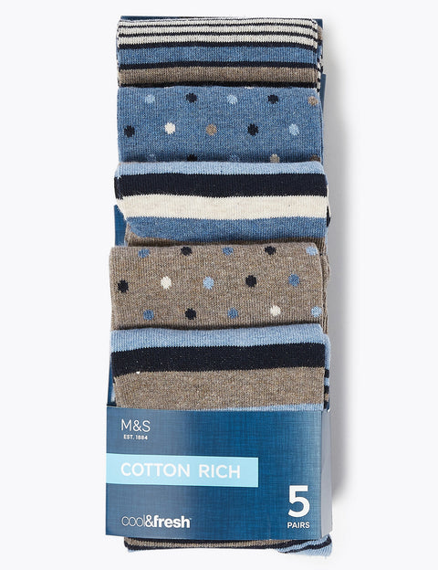 5 Pack Cool & Fresh™ Assorted Socks