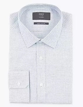 Tailored Fit Pure Cotton Pattern Shirt