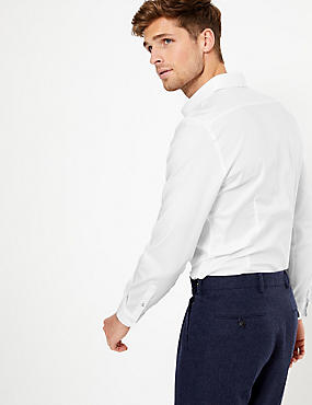 Slim Fit Textured Shirt