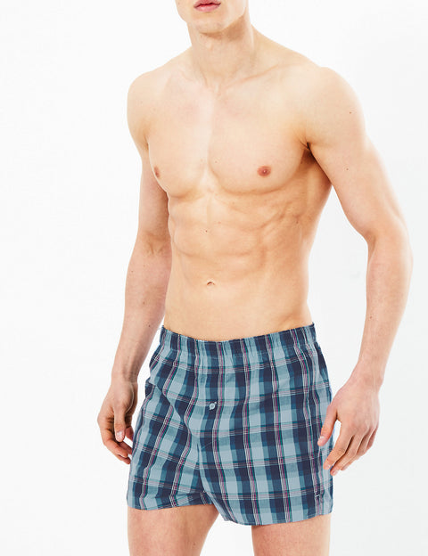 3 Pack Pure Cotton StayNew™ Woven Boxers