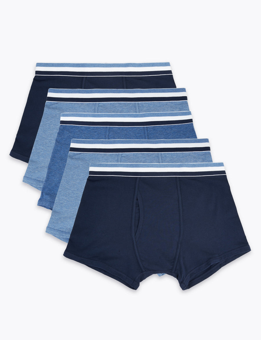 5 Pack Cotton Stretch Cool & Fresh™ Trunks