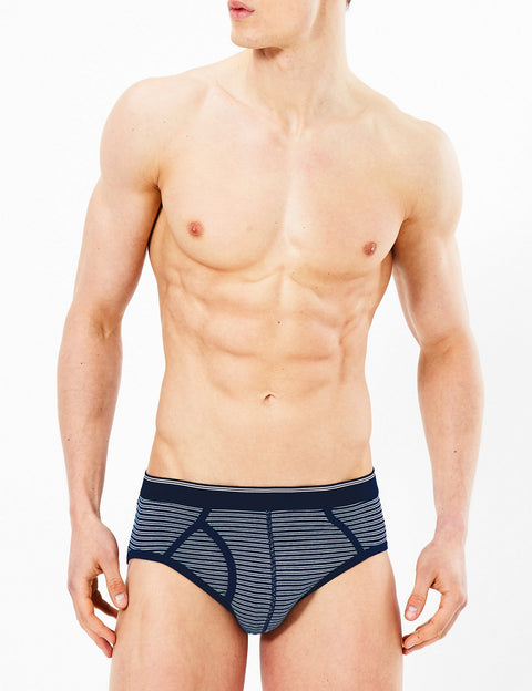 4 Pack Cotton Striped Cool & Fresh™ Briefs