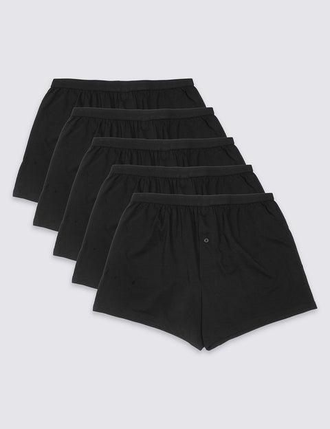 5 Pack Pure Cotton Cool & Fresh™ Jersey Boxers