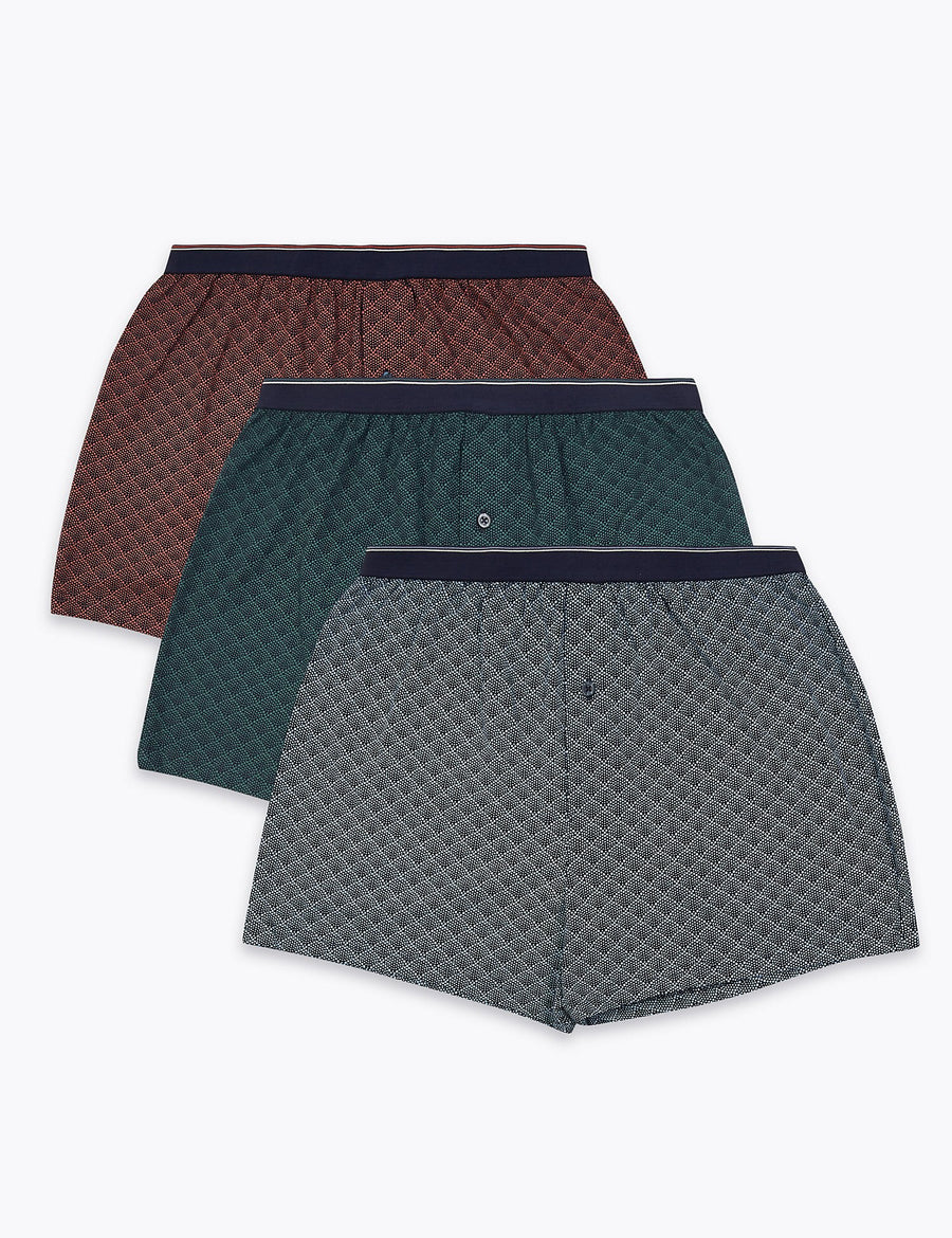 3 Pack Cotton Cool & Fresh™ Boxers